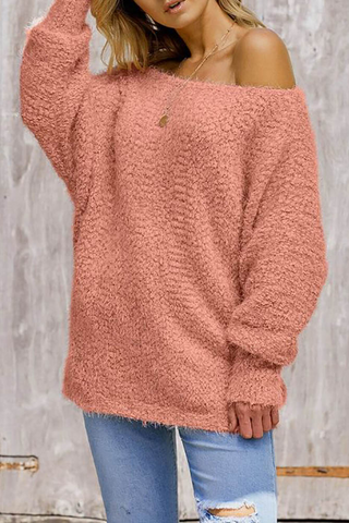 Womens fashion casual solid color sweater