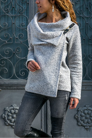 Casual Fold Collar Solid Color Wool Short Coat