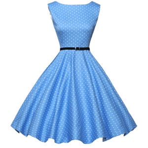 ROSALIE LIGHT BLUE - HEPBURN DRESS