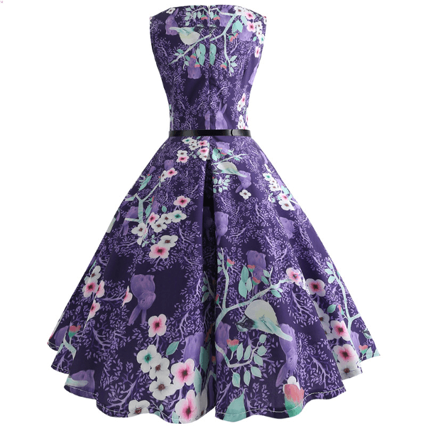 MOONLIGHT BLOOM - HEPBURN DRESS