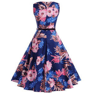 HIBISCUS SHADOWS - HEPBURN DRESS