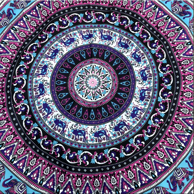 VIOLET ELEPHANT MANDALA Throw