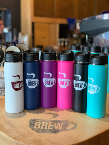 24oz Brew Logo/ The Sip Travel Mugs