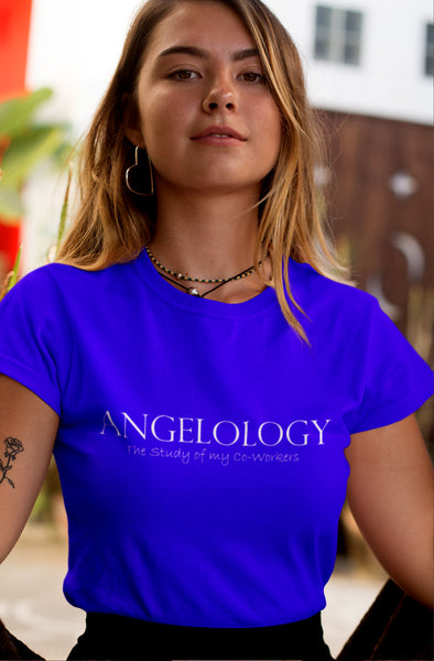 Angelology - The Study of my Co-Workers - Ladies' short sleeve t-shirt