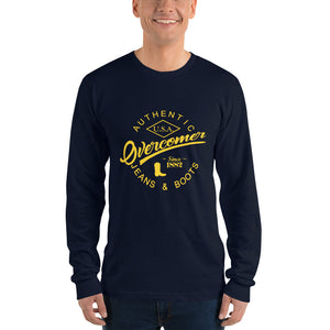 Overcomer Jeans & Boots Logo in Traditional Yellow - Long sleeve t-shirt