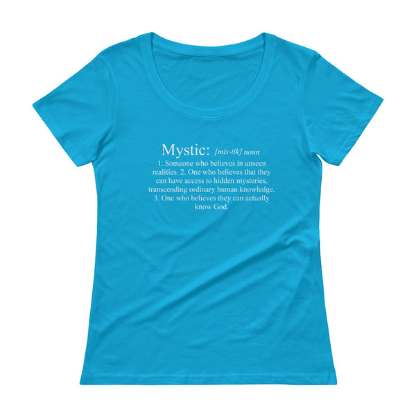 Definition of a Mystic - Ladies' Scoopneck T-Shirt
