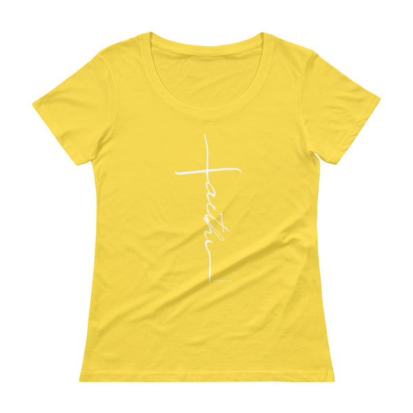 Faith - Ladies' Scoopneck T-Shirt