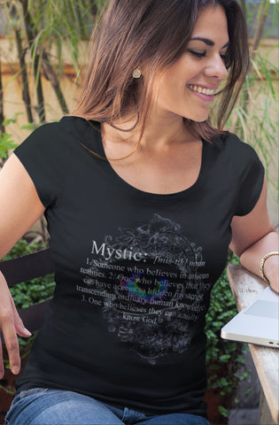 Definition of a Mystic with colorful eye - Ladies' Scoopneck T-Shirt