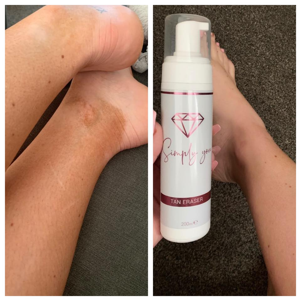 Scented Self Tan Remover-Baby Powder, Tan Remover, Tan, Skin Care Scented Self Tan Remover | Baby Powder Simply You Cosmetics
