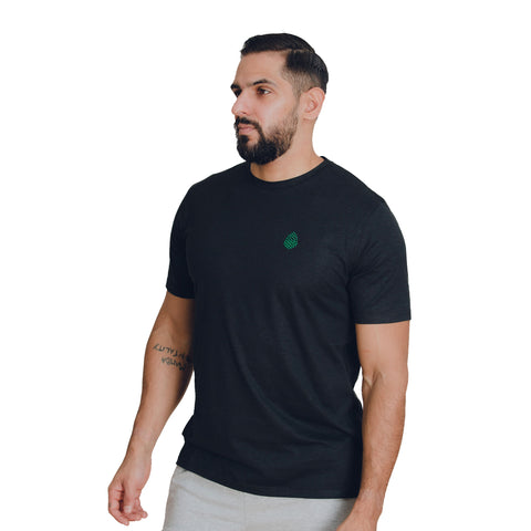 Performance Tee Vintage Black - Green Logo