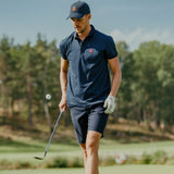 Golf Shirt Navy - Red Logo