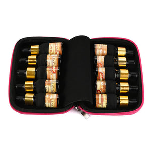 10 Roller Bottles Essential Oil Case Carry Holder