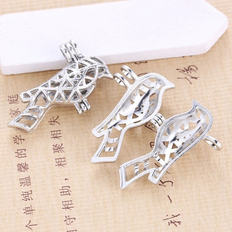Image of 10PCS/Lot Pearls Cage Locket Necklaces Aroma
