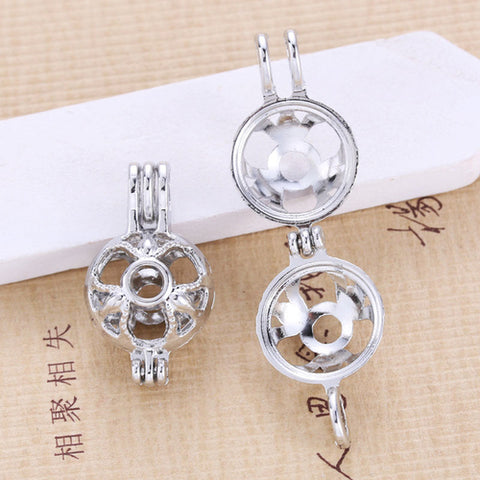 10PCS/Lot Pearls Cage Locket Necklaces Aroma