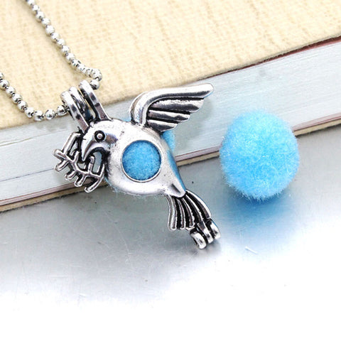 1PCS Bird Vintage Silver Plated Hollow Cage