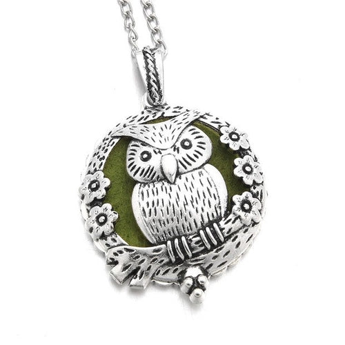 Vintage Owl Aroma Diffuser Necklace