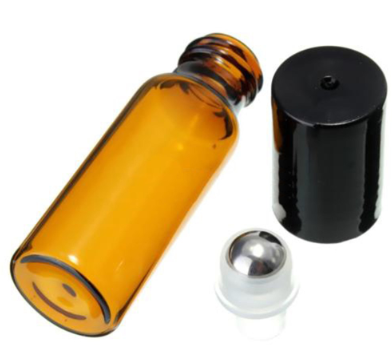 Image of amber roll-on glass bottles 10 pack