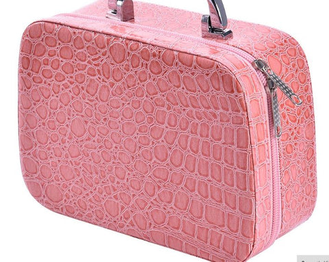 essential oil carry case pink leather