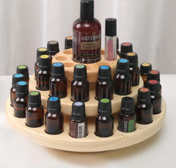 Image of Wooden Case Aromatherapy Oils Organizer & Display Rack