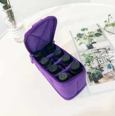 Image of Portable 8 Bottle Essential Oil Storage Bag