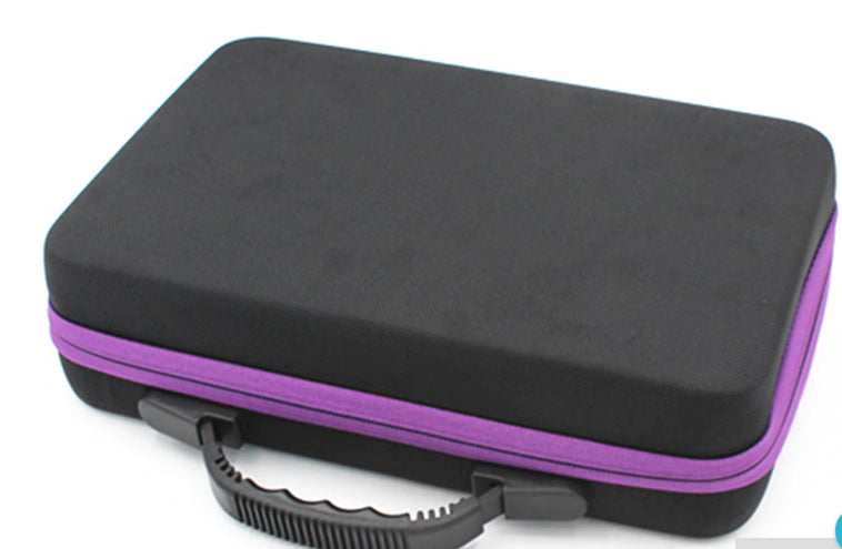 essential oil 60 bottle purple travel case