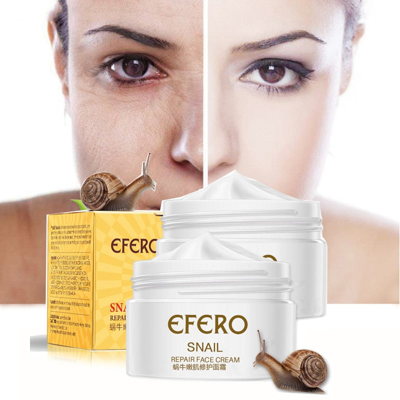 EFERO Anti Aging Snail Essence Face Cream Whitening Snail Cream Serum Moist Nourishing Lifting Face Skin Care anti wrinkle Cream