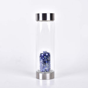 crystal-infused water bottle lapis