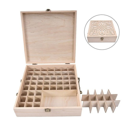 Image of Decorative Wooden Essential Oil Organizer