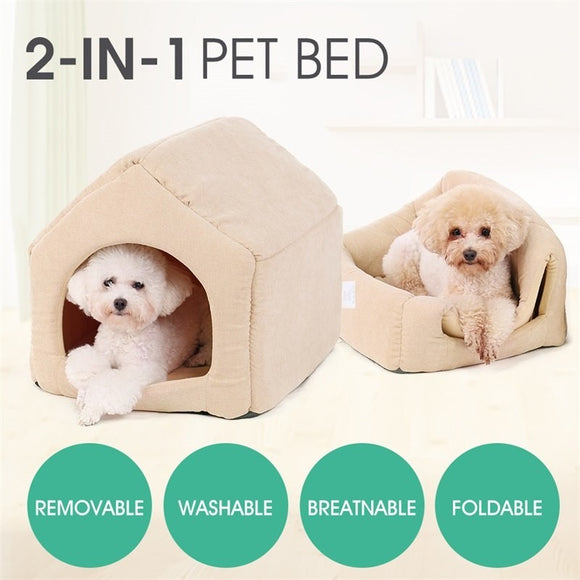 cdeae718ea Dog House Cozy Dog Bed Puppy Kennel Pet Sleeping Bed Pure Color Kitten Mats  Cat Nest