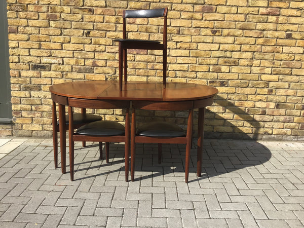 1960's Danish table and chairs by Hans Olsen SOLD