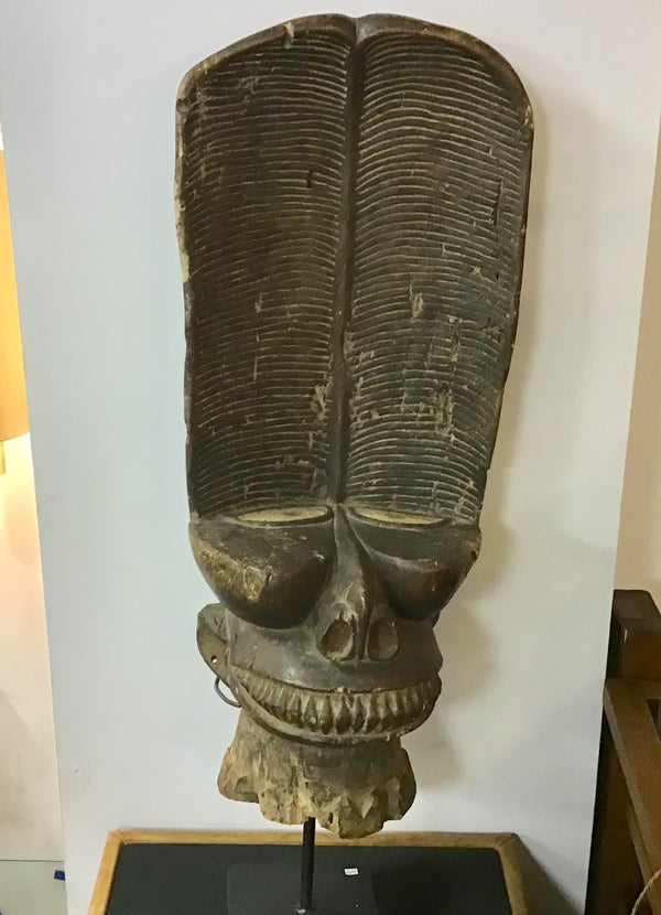 Bamileke Batcham Chair Headdress Mask Cameroon
