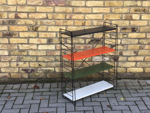 VINTAGE METAL TOMADO WALL BOOKCASE SHELF UNIT