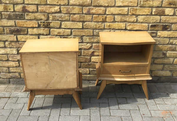 1950's French bedside cabinets