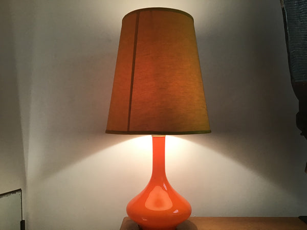 Holmegaard Orange Glass Lamp  1960's SOLD
