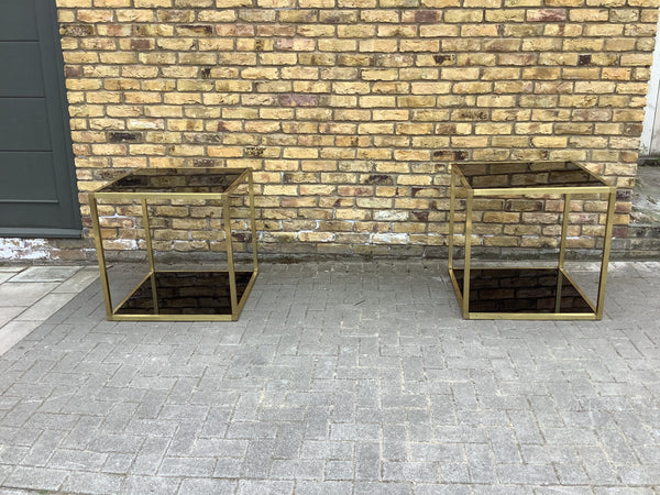 A pair of 1970's Brass Italian tables