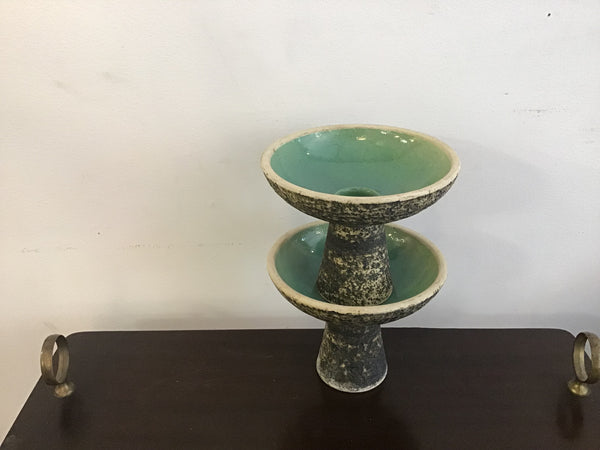 1950's ceramic candle holders