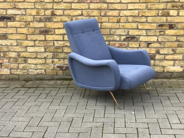 Re upholstered 1950's Italian armchair