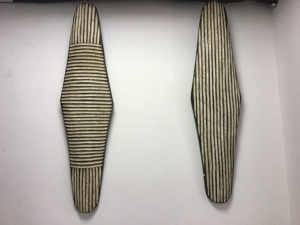 A pair of Vintage Zulu shields