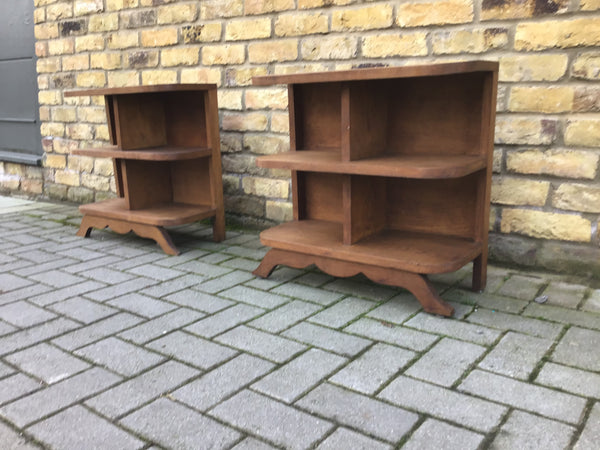 A pair of Deco storage bookcases