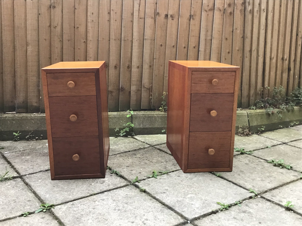 A pair 1960's bedside cabinets SOLD