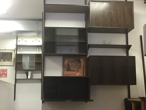 Rosewood PS Wall unit by Poul Cadovius