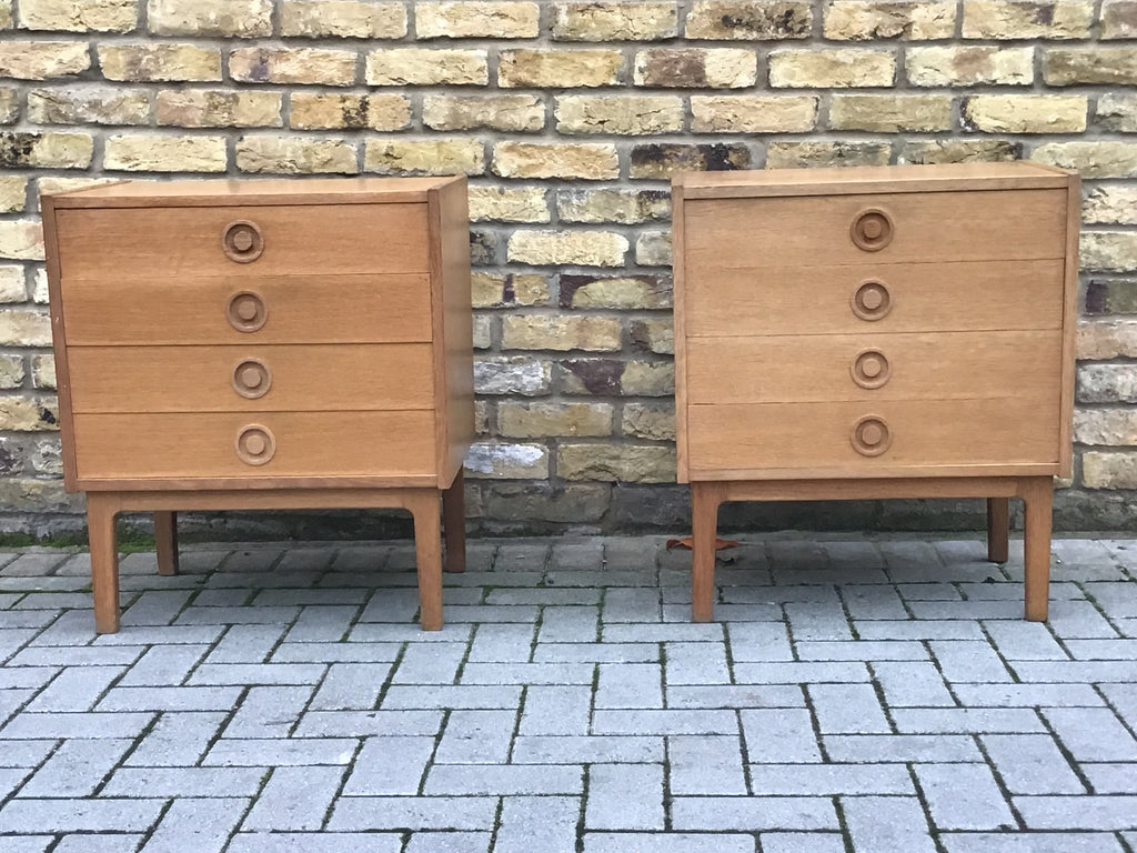 A pair of 1960's Danish chest of draws in the style of Borge Mogensen