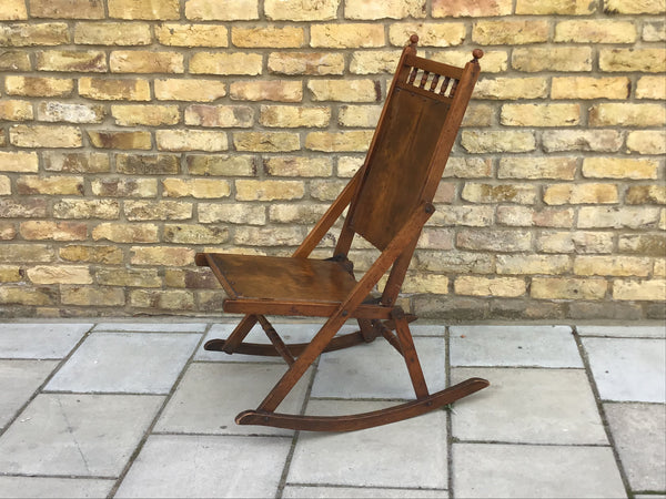 Edwardian Antique Folding Rocking Chair