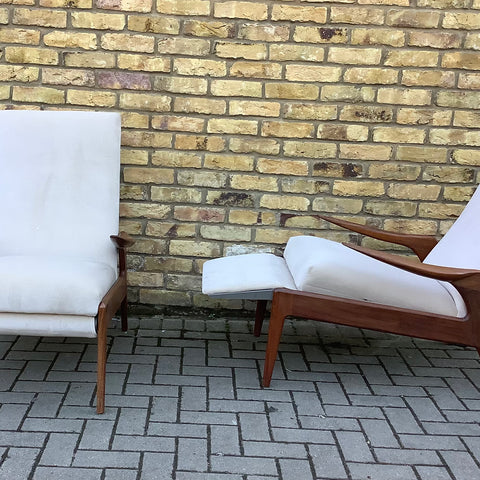 Greaves and Thomas style Reclining armchairs