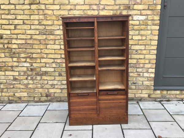 1940's French tambour cabinet