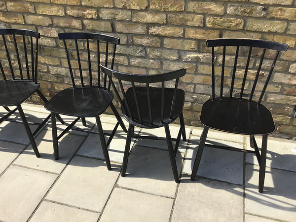 Set of six ercol style dinning chairs