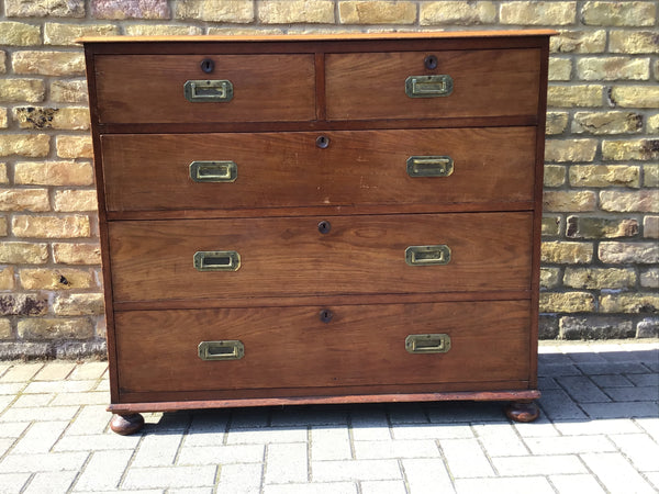 Campaign chest of draws Victorian