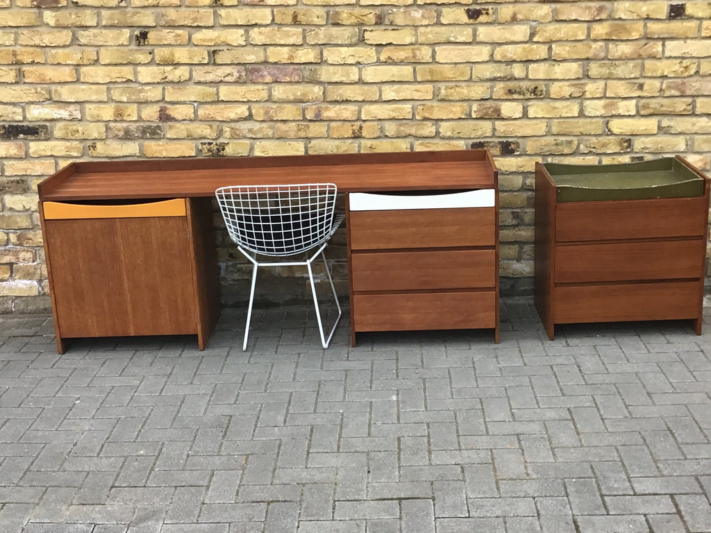 1960's Summa modular storage units/Desk by Conran
