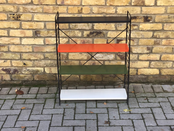 VINTAGE METAL TOMADO FREE STANDING  DUTCH BOOKCASE SHELF UNIT