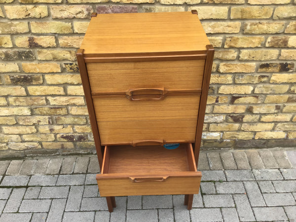 "1960""s tall chest of draws by Nathan"